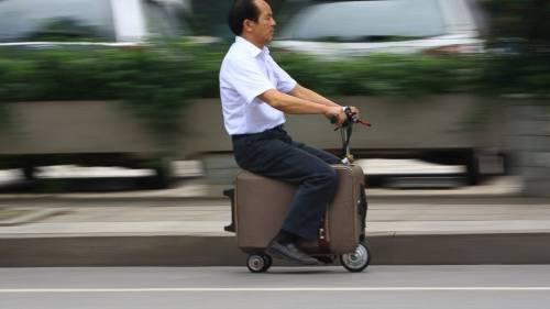 Una valija motorizada para trasladarte y llevar tus pertenencias sin esfuerzos