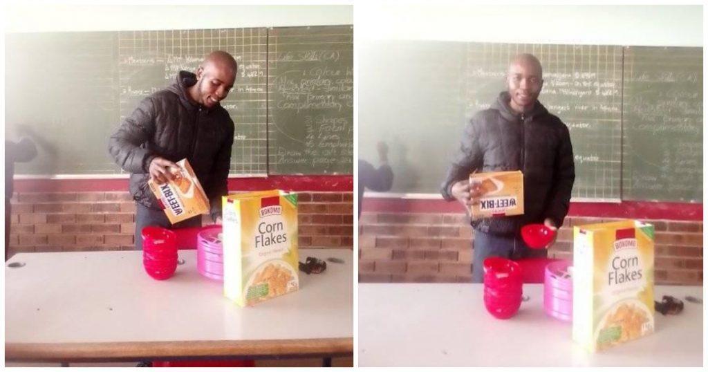 Este maestro de Sudáfrica usa su sueldo para alimentar a sus alumnos