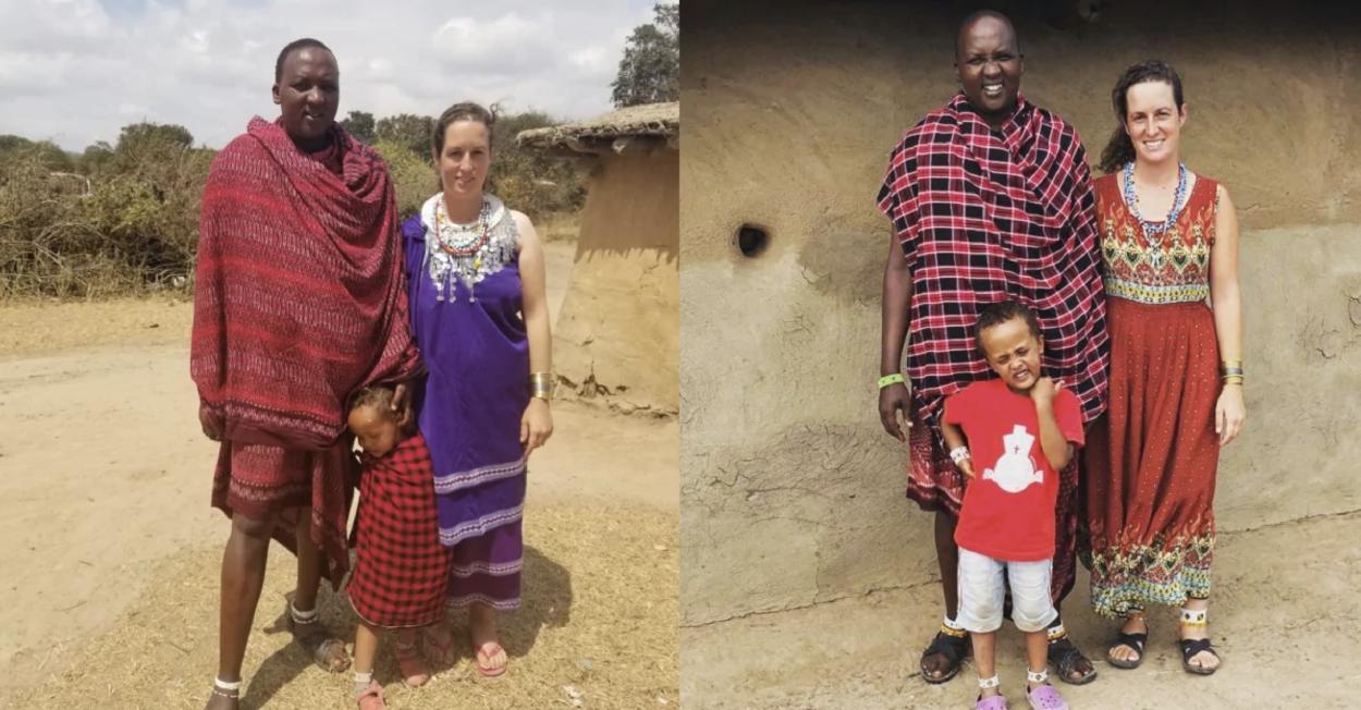 Mujer alemana viajó a Tanzania y ahora ya lleva 9 años formando parte de la tribu masái