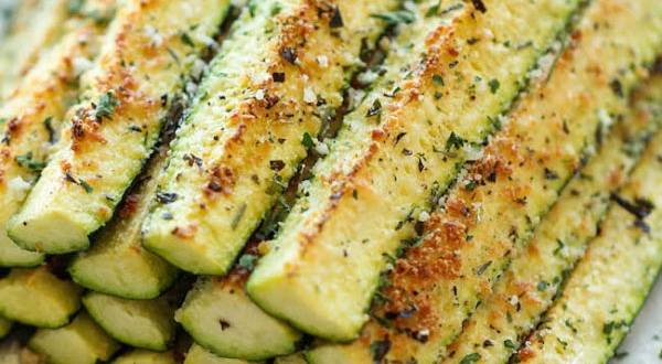Bocadillos crujientes de zucchini y parmesano
