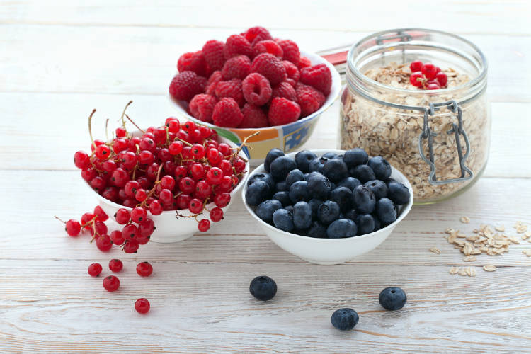 frutos rojos avena