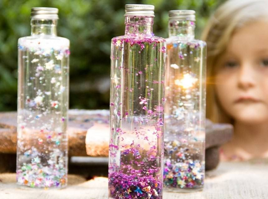 Cómo hacer botellas mágicas