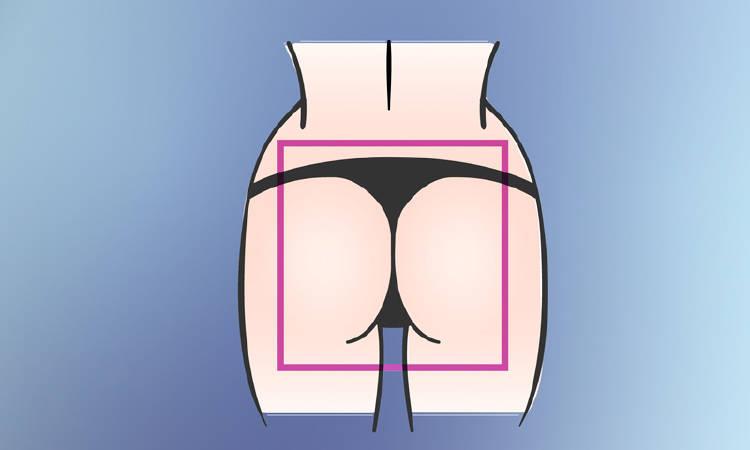 forma gluteos cuadrados