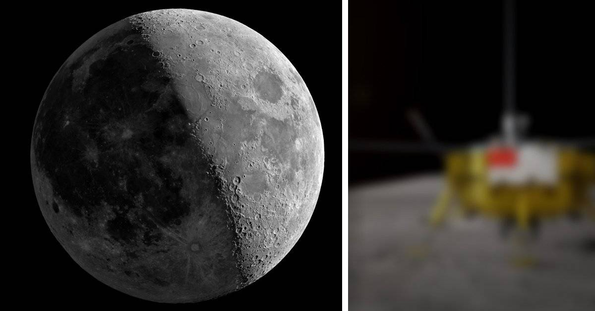 Esta es la primera fotografía del lado oscuro de la luna