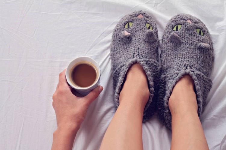Pies fríos con medias de lana