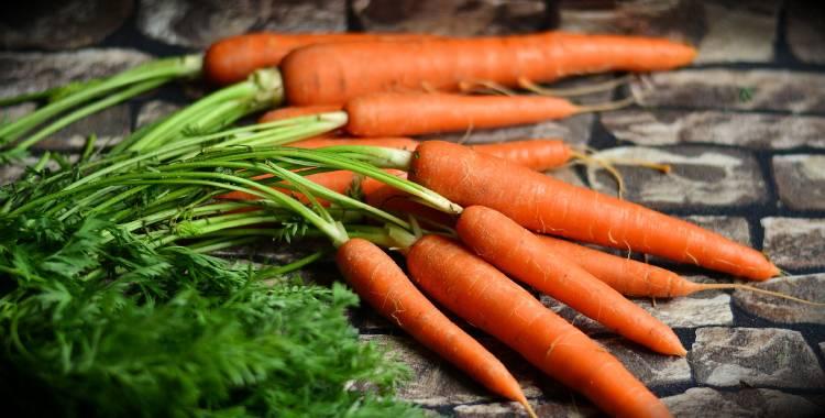 Un atado de zanahorias con sus hojas