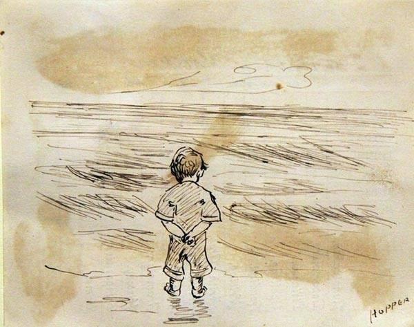 Un niño hizo un dibujo detrás de sus malas calificaciones, mucho tiempo desp..