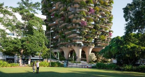 Diseñan un rascacielos en Australia que estará cubierto por 20.000 plantas