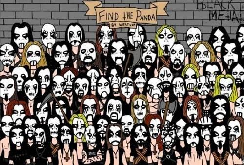 ¡Se escondió un panda en este recital de Heavy Metal! ¿Eres capaz de encont..