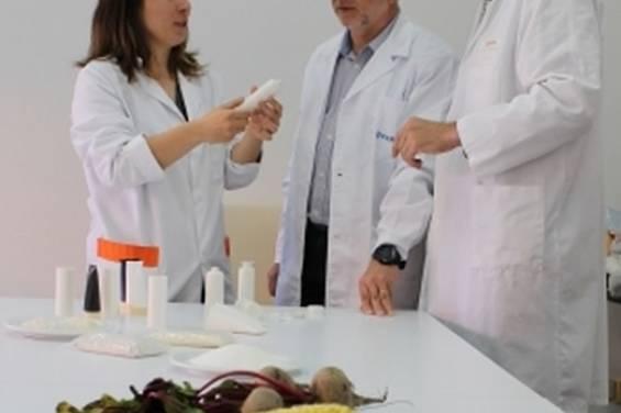 Primer envase biodegradable de cosmético a partir de remolacha, almidón y ma..