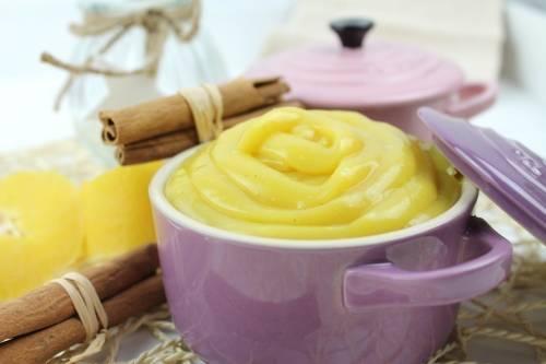 Crema pastelera sin huevo, leche ni gluten