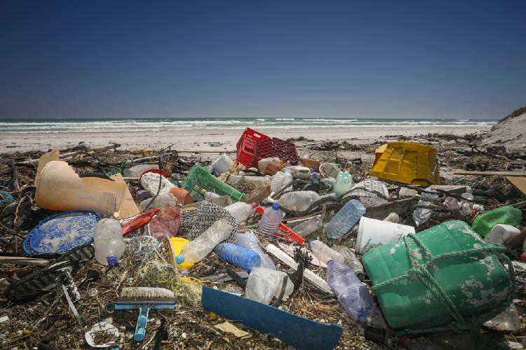 plastico playa basura