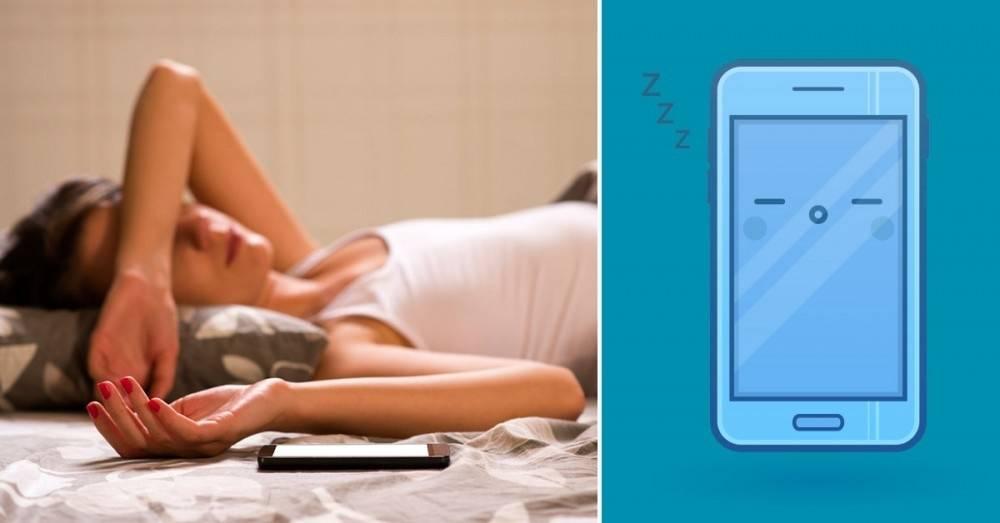 ¿Por qué deberías apagar el celular una hora antes de irte a dormir?