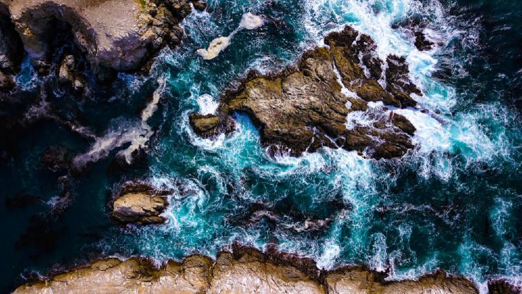Imagen aérea de Big Sur, California