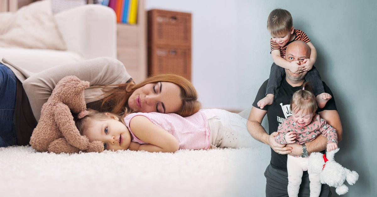 Una investigación reveló que cuidar a los hijos cansa más que trabajar