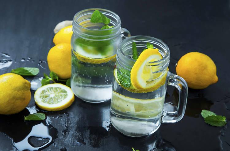 vaso soda limon menta