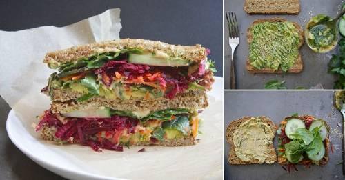 Delicioso sándwich de vegetales ¡muy fácil de preparar!