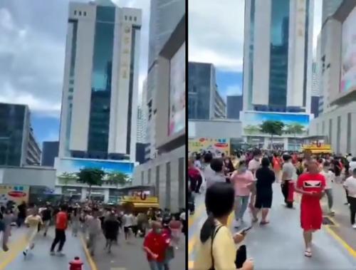 Un rascacielos chino se tambalea misteriosamente y aterra a cientos de personas