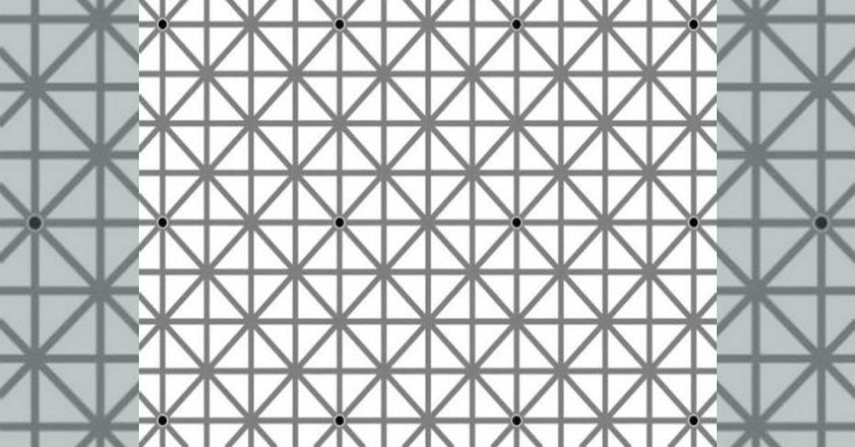 Desafío visual: ¿cuántos puntos negros ves? Tus ojos te pueden engañar