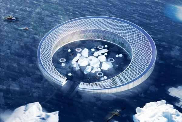Granja de cultivo flotante para alimentar a Groenlandia