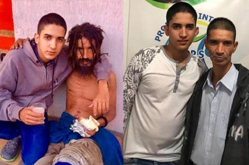El antes y después del hombre que pasó 12 años sumido en indigencia y droga..