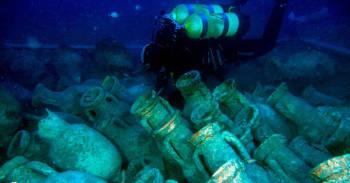 Encontraron un barco romano hundido hace 2.000 años lleno de ketchup