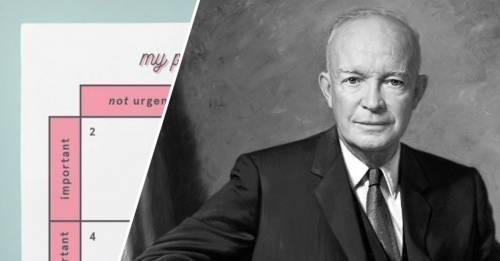 El método de Eisenhower para ser la persona más productiva