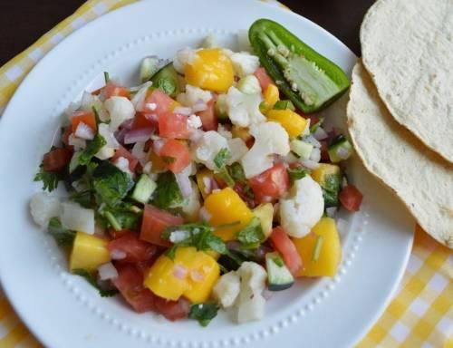 Ceviche de coliflor, ¡vegetariano y delicioso!