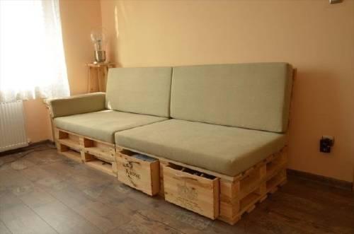 Como Hacer Un Sofa.Como Hacer Un Sofa De Pallets Con Almacenamiento Interno