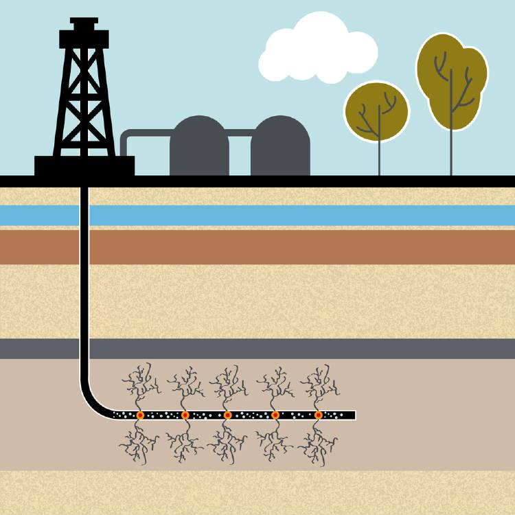 Fracking ilustración