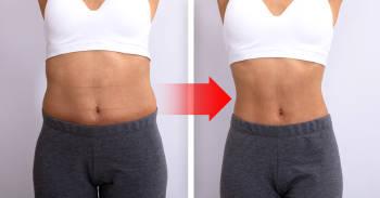 mujer antes y despues de hacer dieta y ejercicios. concepto de bajar de peso y estar en forma