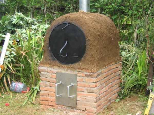 Construcción de Horno chileno en barro