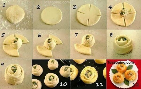 Cómo hacer rosas de pizza