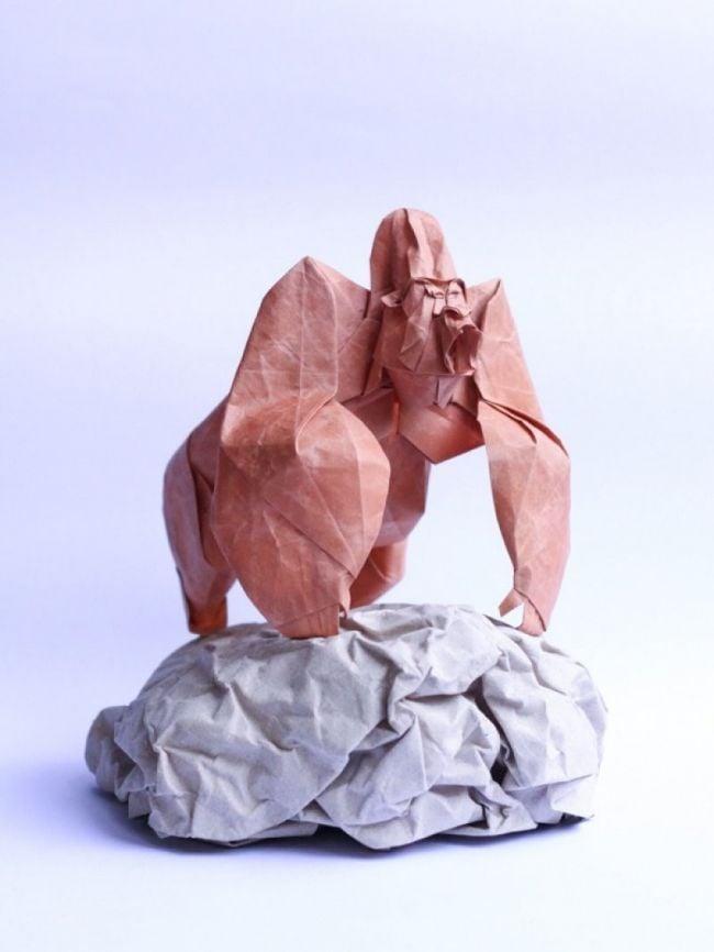 Los increíbles origamis de Nguyen Hùng Cuong- gorila