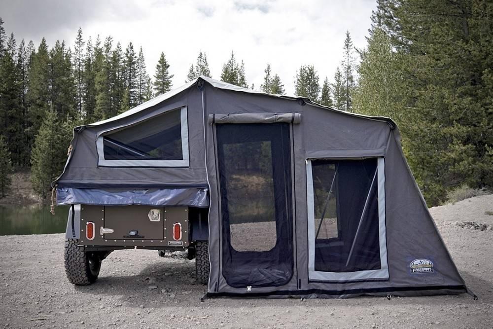 Un trailer que se convierte en una tienda de campaña para acampar adonde quie..