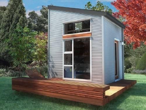 Una casita diminuta para dos de construcción rápida y barata