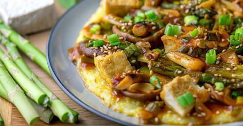 Aprende a preparar crepes de polenta en cuatro simples pasos