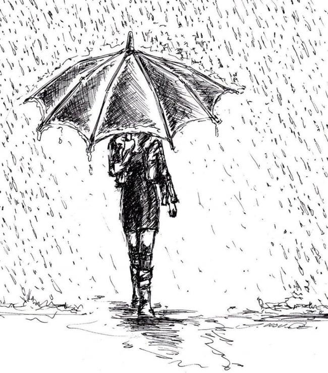 Dibuja Un Hombre Bajo La Lluvia Y Conoce Cómo Eres Bioguia