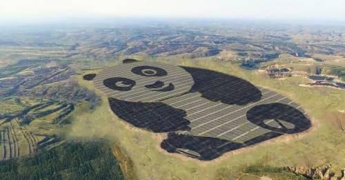 Una central eléctrica con forma de panda