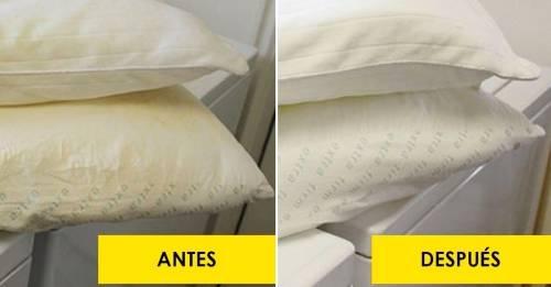 5 Pasos para devolver el blanco a tus sábanas y almohadas amarillentas y deja..
