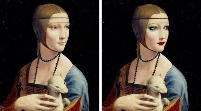 Cómo se verían los cuadros más famosos de la historia si se maquillaran com..