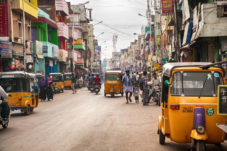 las calles de chennai, india