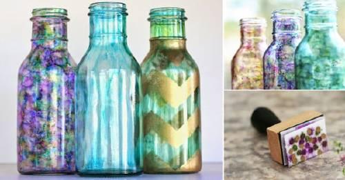 Cómo crear botellas de vidrio decorativas
