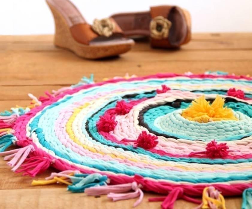 Cómo hacer una alfombra mandala con un aro de hula-hula
