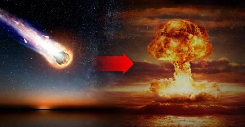 Un meteorito explotó sobre el mar con la fuerza de 10 bombas atómicas