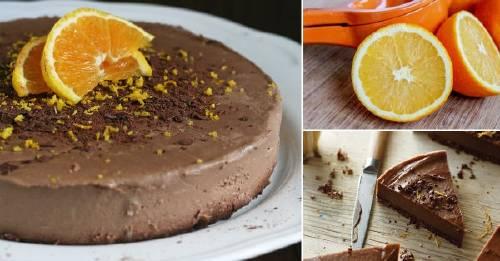 Pastel de chocolate y naranja sin cocción