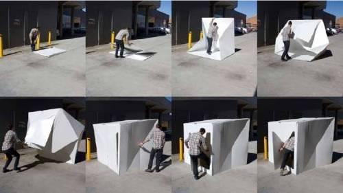 El Refugio compacto diseñado por Alastair Pryor, que se arma en menos de dos ..