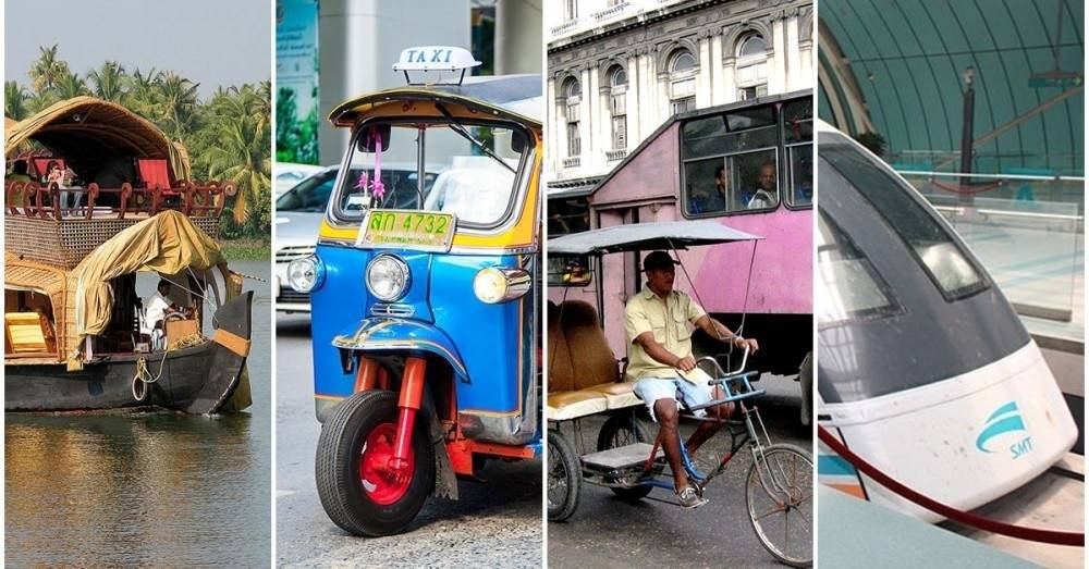 Así es como se transporta la gente en 10 países