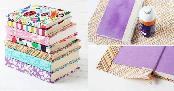 Cubre tus libros y agendas con tela: ¡Una excelente opción de rehuso!