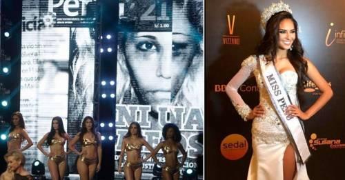 Video: las participantes de Miss Perú decidieron dar un mensaje en lugar de s..